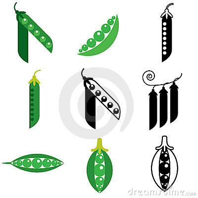 Green peas icons
