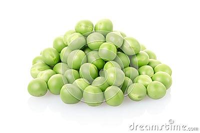 Green peas pile