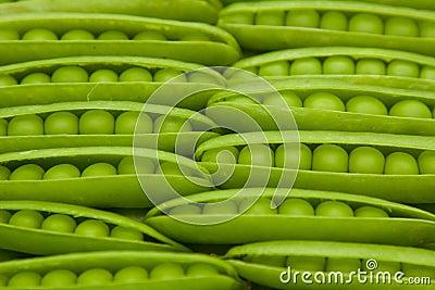 Green peas in pod