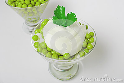 Green peas salad