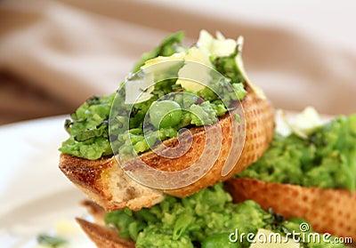 Green Peas On Toast