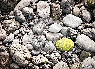 Green pebble