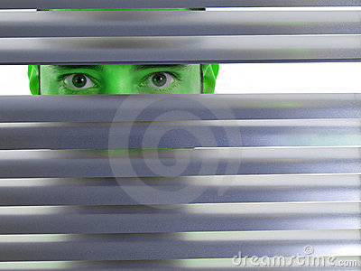 Green peeping Tom
