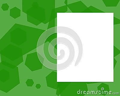 Green pentagon frame