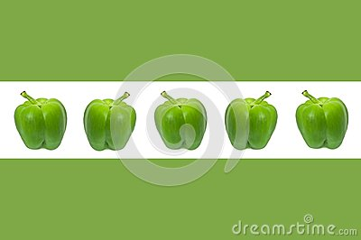 Green pepper border.