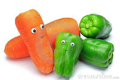 Green pepper and carrot
