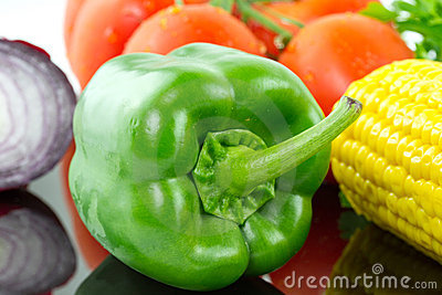Green pepper with vegetables