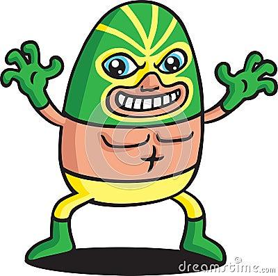Green Phantom Wrestler