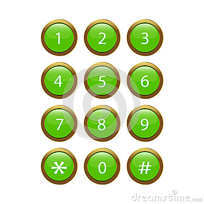 Green Phone Keypad