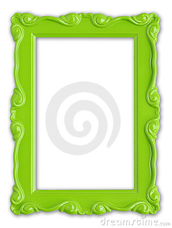 Free Green Picture Frame Royalty Free Stock Photography - 9383377
