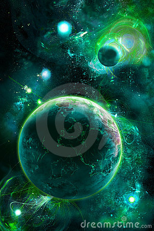 Green picture with space