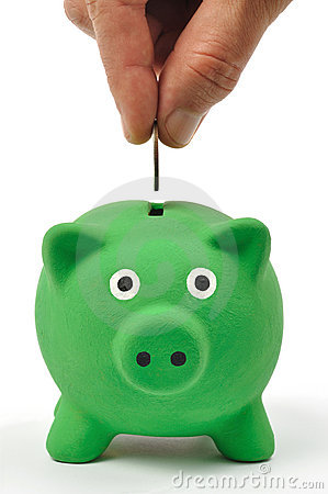 Free Green Piggy Bank Royalty Free Stock Photos - 16153278