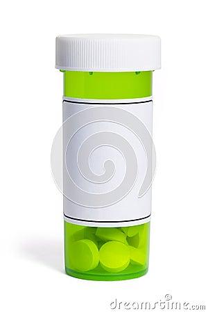Green Pill Bottle