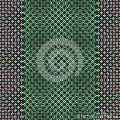 Green Pink Checkered Design