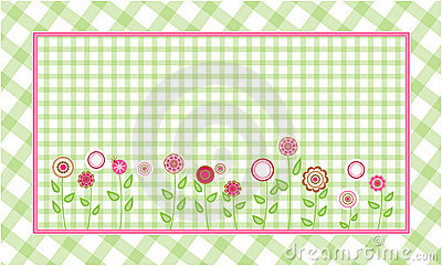 Green plaid background