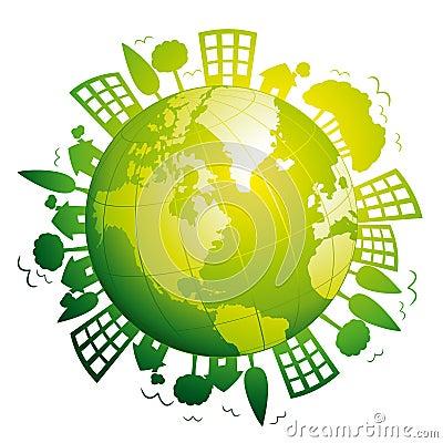 Green planet earth.