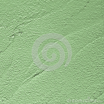 Green plaster surface