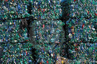 Green plastic recycling Editorial Photography