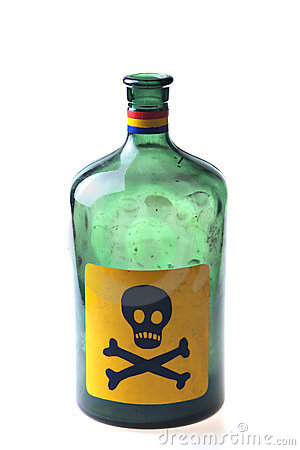 Free Green Poison Bottle Stock Photography - 23774612