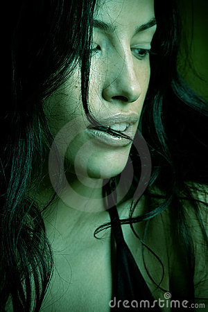 Green Portrait Royalty Free Stock Photography - Image: 3338767