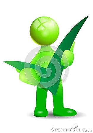 Green positive symbol