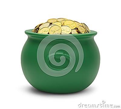 Green Pot Of Gold Stock Photos - Image: 38423033