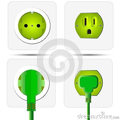 Green Power Plug Royalty Free Stock Image Image 23699796