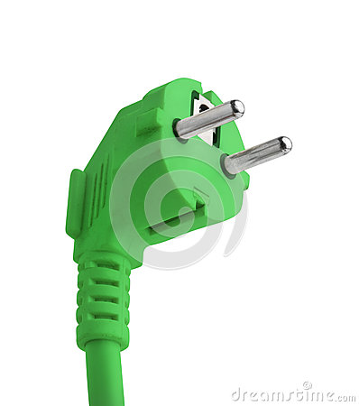 Free Green Power Plug Saving Energy Isolated Stock Images - 27784244