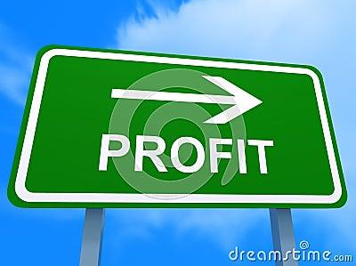 Green profit sign