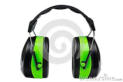 Green protective earmuffs