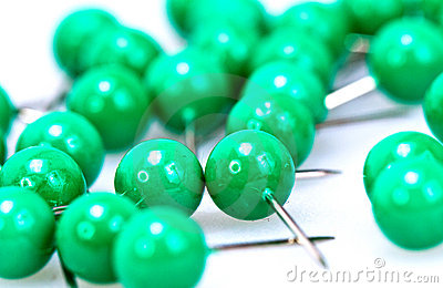 Green Pushpin