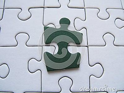 Green puzzle piece