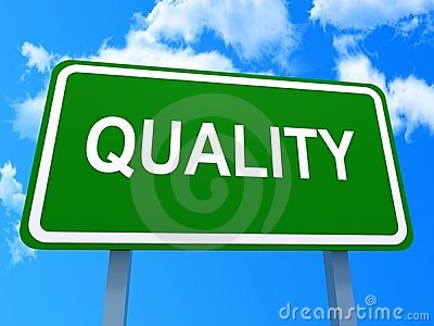 Green quality sign