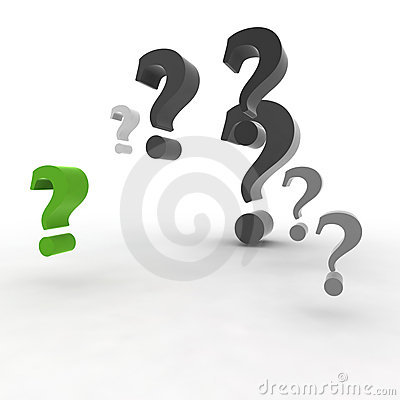 Green question-mark