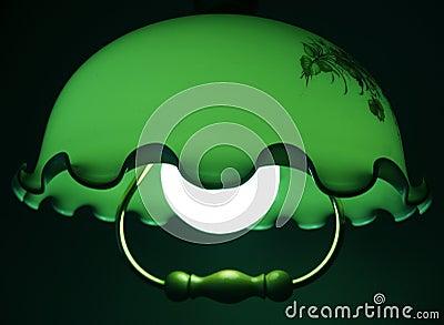 Green quiet light of a lamp