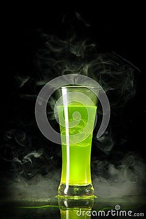 Free Green Radioactive Alcohol With Biohazard Royalty Free Stock Photos - 15368028