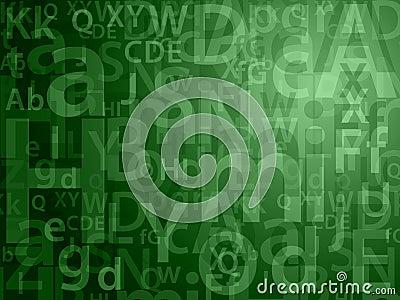 Green random letters