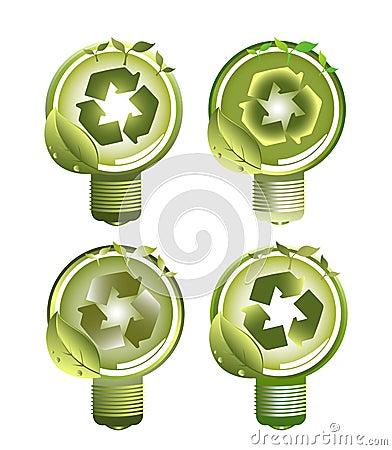 Green Recycle Light Bulbs