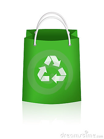 Green Recycling Bag Stock Photos - Image: 11672253