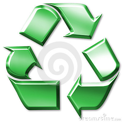 Green Recycling Symbol Royalty Free Stock Images - Image: 3301569