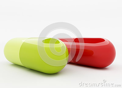 Green and red capsule