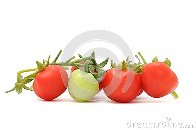 Green And Red Cherry Tomatoes