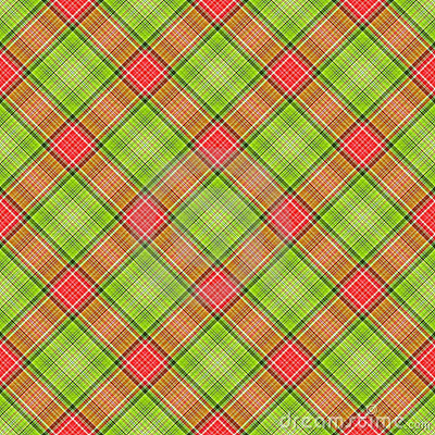 Green Red Diagonal Plaid