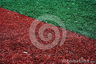 American baseball in-field