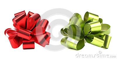 Green and red packaging band.