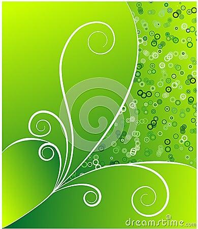Green retro flow vector