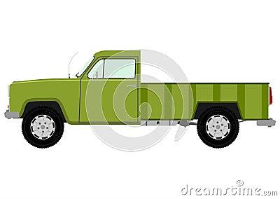 Green retro truck