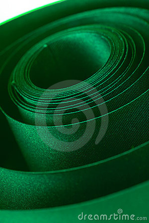 Free Green Ribbon Royalty Free Stock Photography - 402437