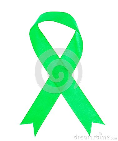 Free Green Ribbon As Symbol Of Awareness Of The Disease, World Health Day Stock Images - 113454704