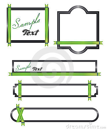 Green ribon Banners